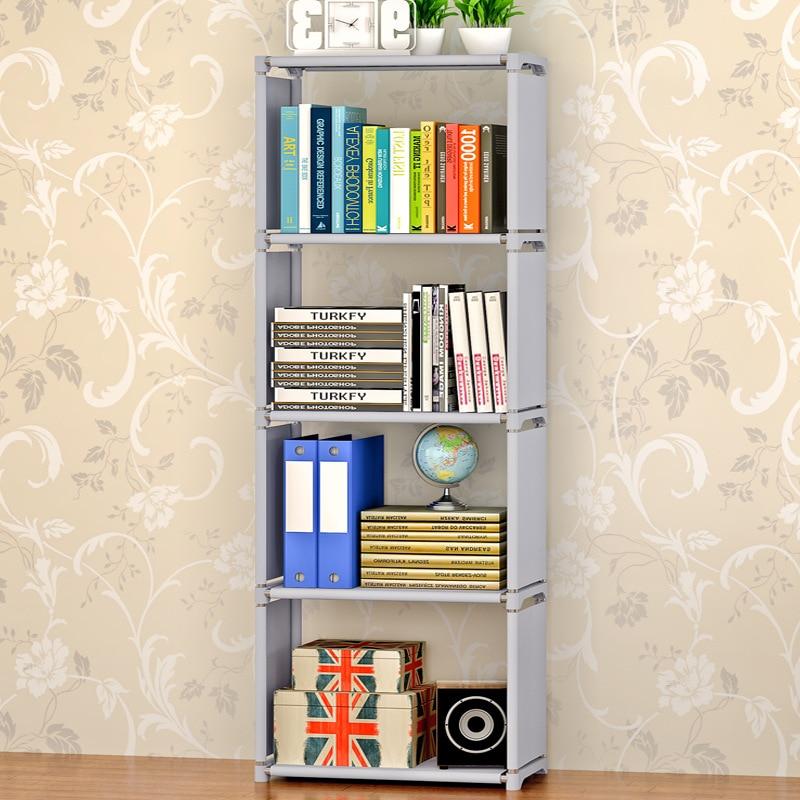 Mobilya'ten Kitaplıklar'de Kitap rafı Montajı kolay Çocuklar Kitap Standı Yaratıcı modern ev dekorasyonu Nonwoven Mobilya Taşınabilir Kitaplık Kitaplık title=