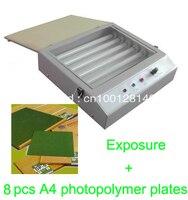 משלוח מהיר חינם באיכות מכסה המנוע יחידת חשיפת UV לחם לסכל Pad הדפסת PCB + 8 יחידות A4 צלחות photopolymer