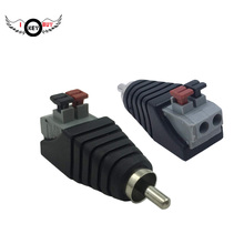 I Key Buy 2 uds. Altavoz Phono RCA macho a 2 tornillo Terminal Strip Audio Video primavera prensa tipo conector para Balum Adapter