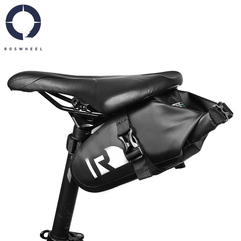 Roswheel Waterproof Mountain Road Bike Saddle Bag Bicycle Wedge Pack Rear Back Seat Bag Dry Series 131363
