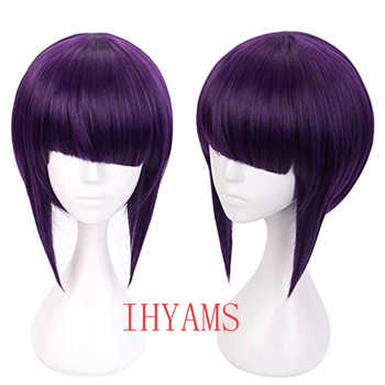 My Hero Academia Kyoka Jiro Cosplay Wigs 30cm Purple Black Heat Resistant Short Synthetic Hair Perucas Cosplay Wig+Wig Cap - DISCOUNT ITEM  0% OFF All Category