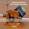 1 Conjunto DIY Reprap Kossel All-metal Remoto Planeta Redutor Do Motor Engrenado liga Alimunum Bowden Extrusora para 1.75mm 3mm Impressora 3D