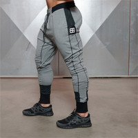 Body Engineers 2018 men fitness muscle movement side zipper breathable stretch trousers sweatpants gyms casual pants