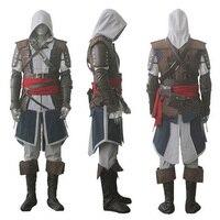 Assassin's Creed IV 4 черный флаг Эдвард кенвей Хэллоуин Серый косплэй костюм супергероя Assassin Creed весь набор