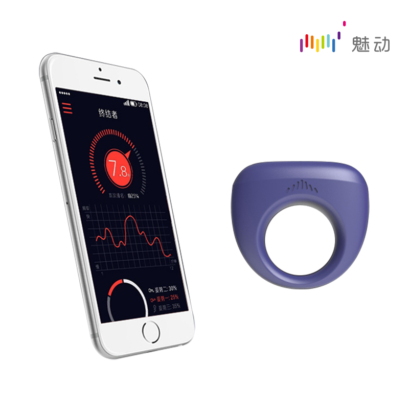 Magic Motion Dante Smart Wearable Ring By Phone For Couples Vibrating Sleeves Wireless Bullets Massage Stimulation Rings