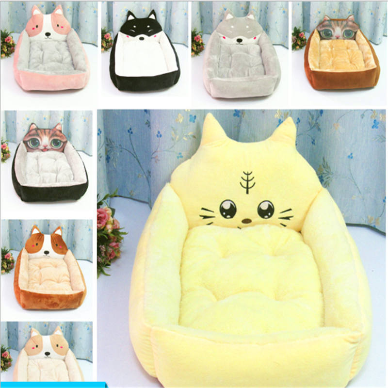 Cotten Pet Cushion Bed for Dogs Cat Small Dog House Sofa Mat Soft Warm Solid Puppy