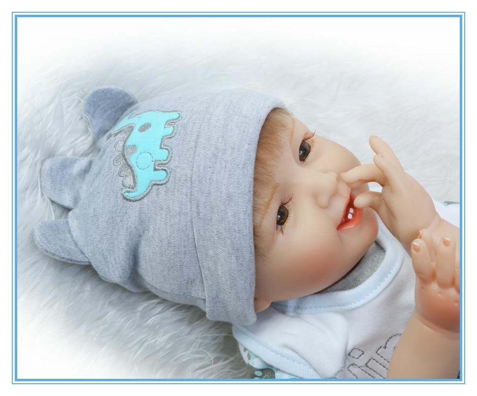 22 Quot 55cm Reborn Doll Baby Silicone Vinyl Dolls Full Body
