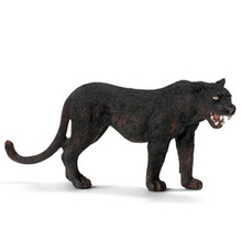 11cm Wild Life Animal Black Leopard Panther PVC Models Action Figures Kids Learning Simulational Toys Gifts