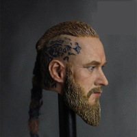 Mnotht 1/6 Mens Viking Head Carved Model Travis Fimmel Male Weave Hair soldier toy For 12 Inch Action Figures Dolls Cllection