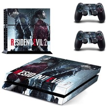 PS4 Skin Resident Evil 2 Remake Console & Controller Decal Stickers for  Sony PlayStation 4 Console and Two Controller