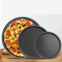 2Pcs Carbon Steel Pizza Stones Non stick Round Baking Pan Tray 6/7 Inch Home Bakery Oven Use Kitchen Diy Kitchen accessories