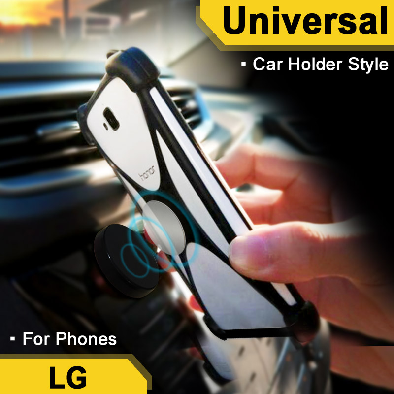 For LG G7 case For Drivers For LG Tribute Dynasty case Elastic Car Holder For LG Disney  ...