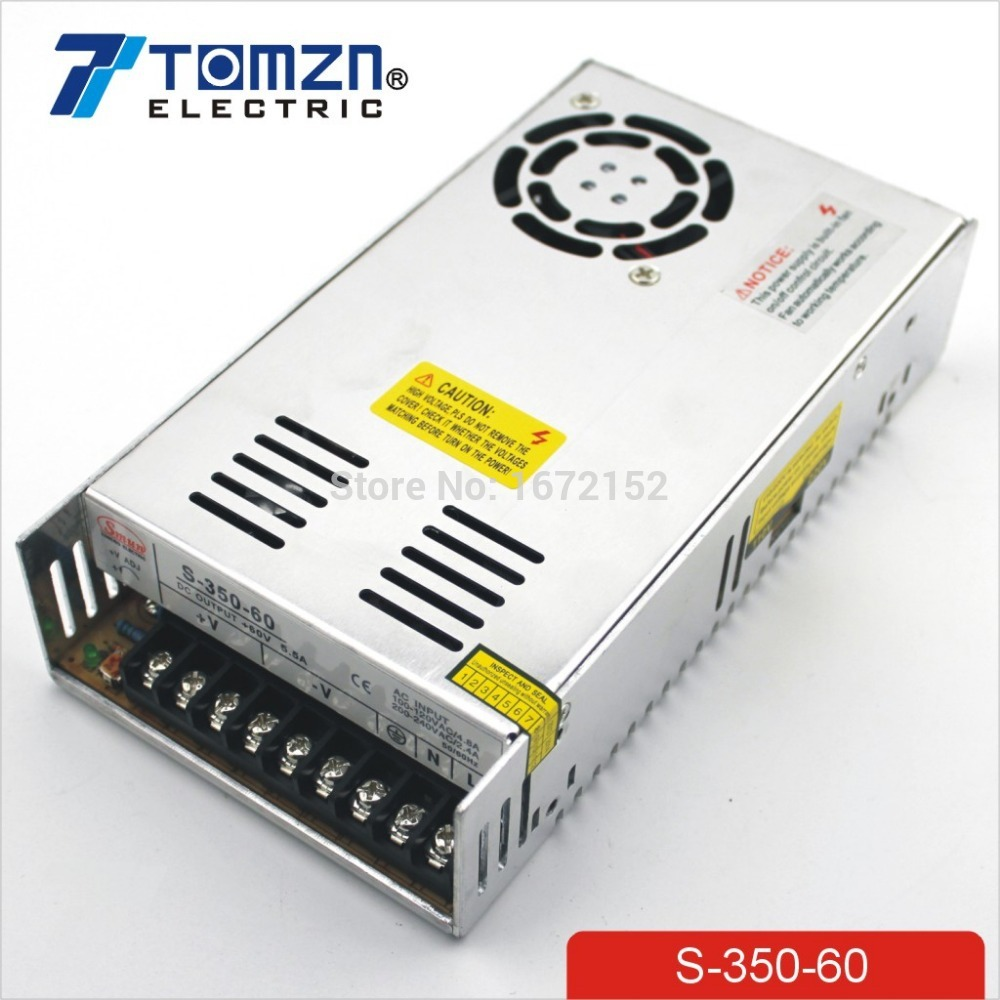 350W 60V 5.8A Single Output Switching power supply AC TO DC for CNC Led strip 350w 60v 5 8a single output switching power supply ac to dc for cnc led strip