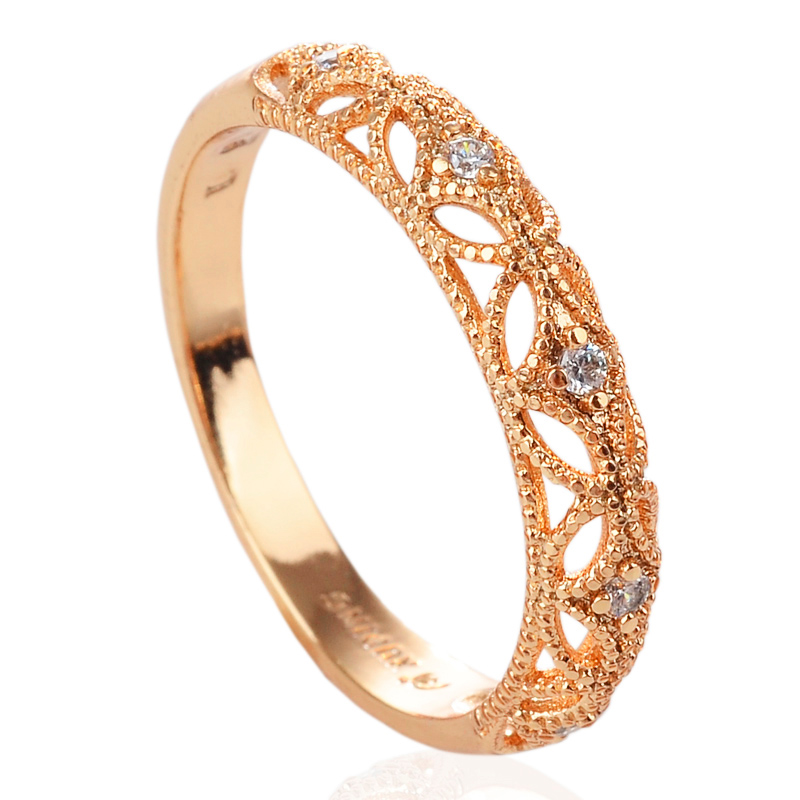 Aliexpress.com : Buy fashion Crown Shaped Ring Rose Gold ...