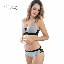 Varsbaby Lady  Wire Free Comfortable Breathable Push Up Bra Set Ruffles Underwear Women Lingerie Sexy Panties and Bra Sets