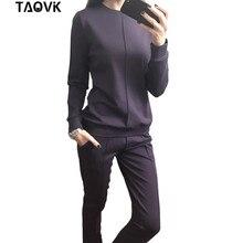TAOVK new fashion gaya Rusia perempuan Musim Gugur Olahraga Perempuan Hoodies 2-Piece Set t-shirt + Celana Panjang) kenyamanan Pakaian