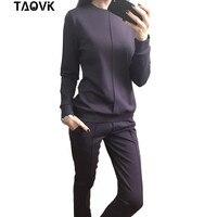TAOVK new fashion Women's Autumn Tracksuit Women Hoodies 2 Piece Set t shirts+Long Pants) Leisure Suits