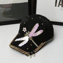 Calidad Superior libélula decoración béisbol Snapback gorras para las  mujeres anillos de hierro casquette de béisbol 1102bdfc14e