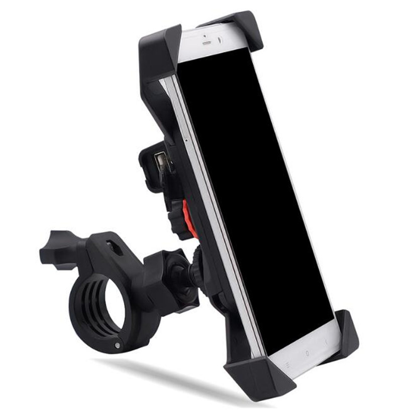 WUPP Bracket Motorcycle Handlebar Mount Holder Telescopic Phone Holder With USB Charger Charging For Cellphone GPS in Cigarette Lighter from Automobiles Motorcycles