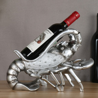 Unique Resin Lobster Figurine Red Wine Bottle Rack Decorative Barware and Drinkware Novelty Gadget Craft Ornament Accessories