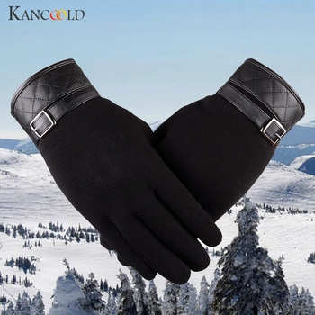 KANCOOLD Gloves Men Thermal Winter Motorcycle Ski Snow Snowboard Gloves high quality Cotton casual gloves men 2018NOV23