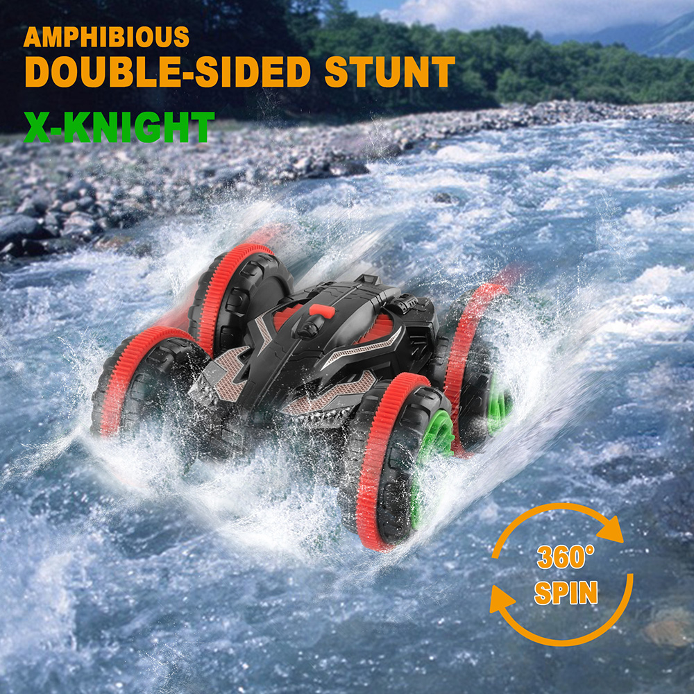 360 Degree Radio Controll Rc Car Machine Amphibious Vehicle Double-Sided Stunt Car Scale 1/18 2.4Ghz 4WD Remote Control Car Toys