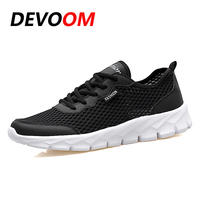Plus Size Mens Shoes 2017 Summer Breathable Casual Mesh Shoes Unisex Footwear Summer Light Lace Up