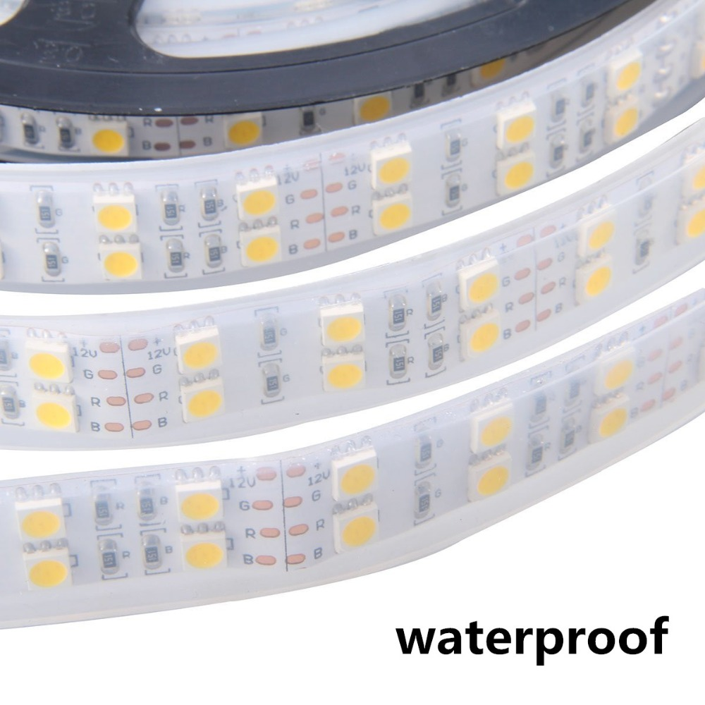 Led Strip Light 5050 Silicon Tube Rope Ribbon Waterproof Ip68 Double Row 600led 5m DC-12V 3200K 6500k White Warm White RGB Tape