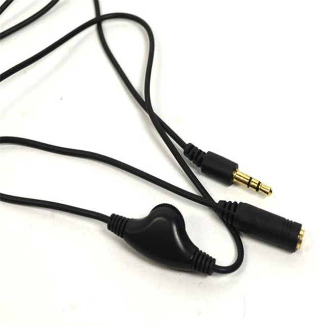 3.5mm Jack AUX Male to 3.5 mm Female Adapter Extension Cable M/F Audio Stereo Cord with Volume Control Earphone Headphone Wire