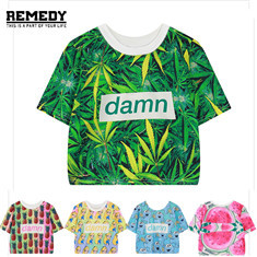 REMEDY-Summer-Women-Harajuku-Punk-Rock-DAMN-Letters-Print-O-Neck-T-Shirt-Sexy-Short-Sleeved