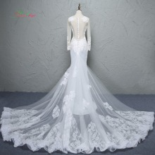 Loverxu Glamorous Detachable Train Mermaid Wedding Dress
