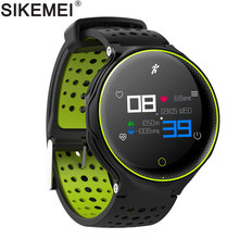 SIKEMEI Sport Fitness Smart Wristband Watch Bracelet IP68 Waterproof Heart Rate Blood Pressure Oxygen Monitor for iPhone Android(China)
