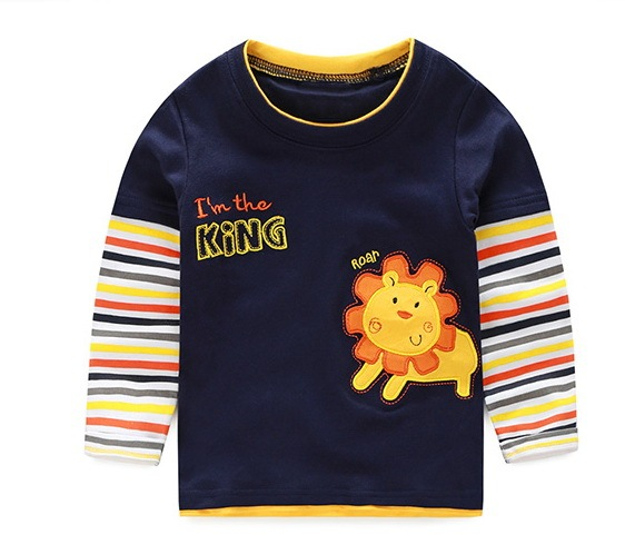 VIDMID boys t-shirt long sleeves children's t-shirts autumn cartoon kids shirts for boys clothes cotton baby clothes boy t-shirt