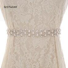 Cinto Fino Frisado Cinto De Noiva Casamento de cristal Strass Cinto De Noiva Para Casamento Vestidos de Noite J218S