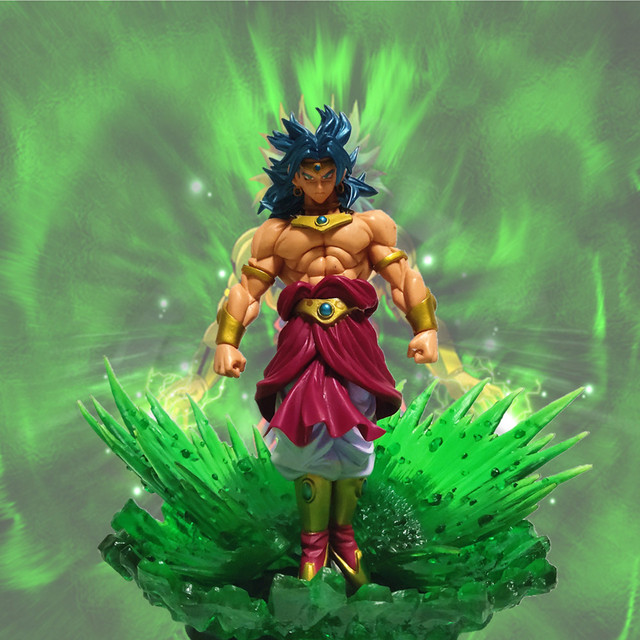 Anime Dragon Ball Z Broly Action Figures Green Power Effect Toy Dragon Ball Super Broli Figurine Model Toys DBZ
