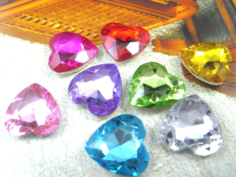 1,000pcs/Bag 12mm Heart Shape Point Back Round Acrylic rhinestones,Acrylic Plastic 3D Nail Art / Jewelry / Garment Rhinestone afghanistan 1 1 000 000