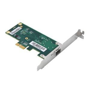 Image 3 - DIEWU Intel I210 PCIe Gigabit יחיד SFP סיבי רשת lan כרטיס