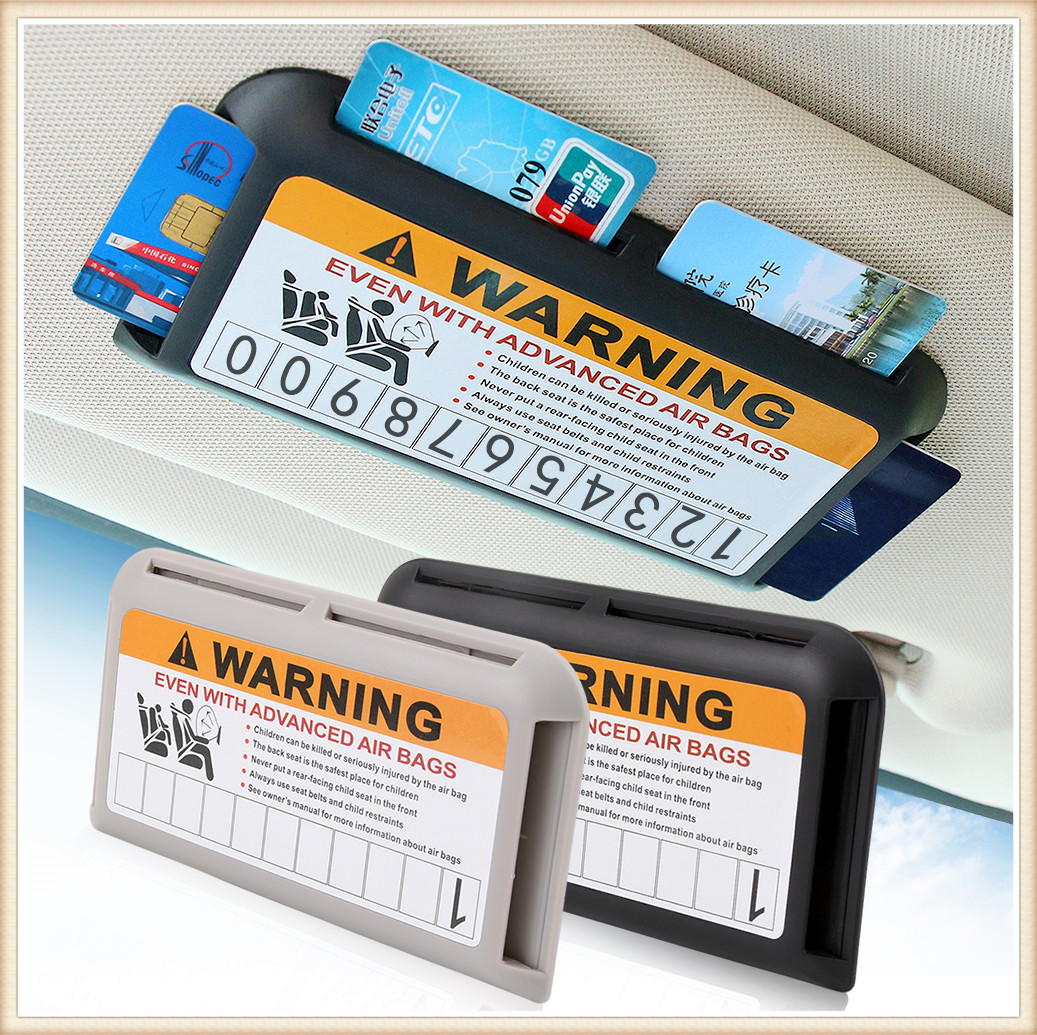 Car Parking bank card Holder Organizer for <font><b>Mercedes</b></font> Benz S550 S500 IAA G500 ML F125 E550 E350 W205 <font><b>W201</b></font> B200 B150 W210 image
