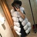 Thick Natural Fox Fur Vest Woman Genuine Fur Coat For Women's Real Furs Vests Fur Jacket Winter Warmest Waistcoat