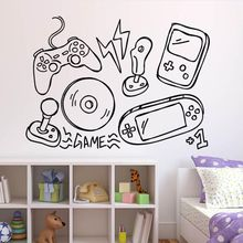 Games Wall Sticker Video Game Controller Vinyl Wall Decal Boys Play Room Decor Gamers Style Wall Art Mural Vinyl Art AY1012