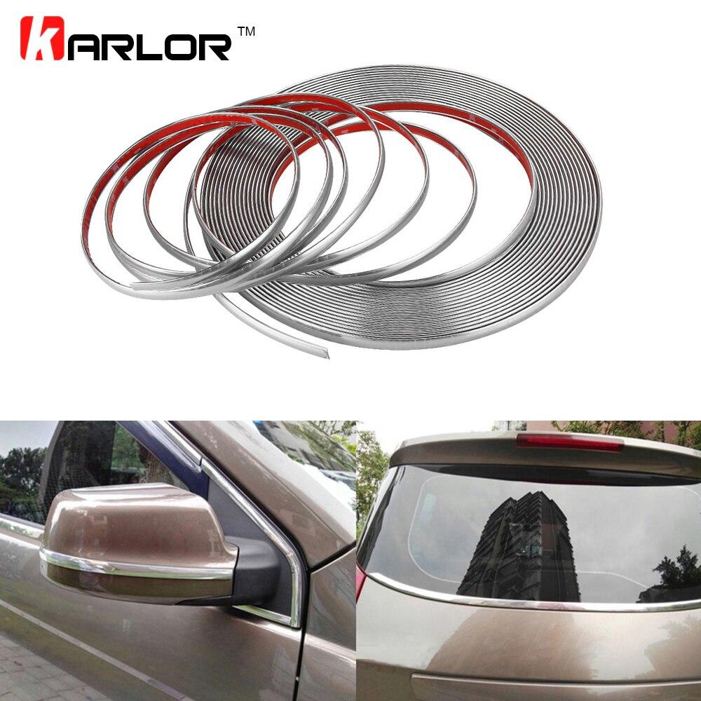 3m car styling chrome decor strip moulding styling trim sticker 6mm 8mm 10mm 12mm 15mm 18mm 20mm. Black Bedroom Furniture Sets. Home Design Ideas