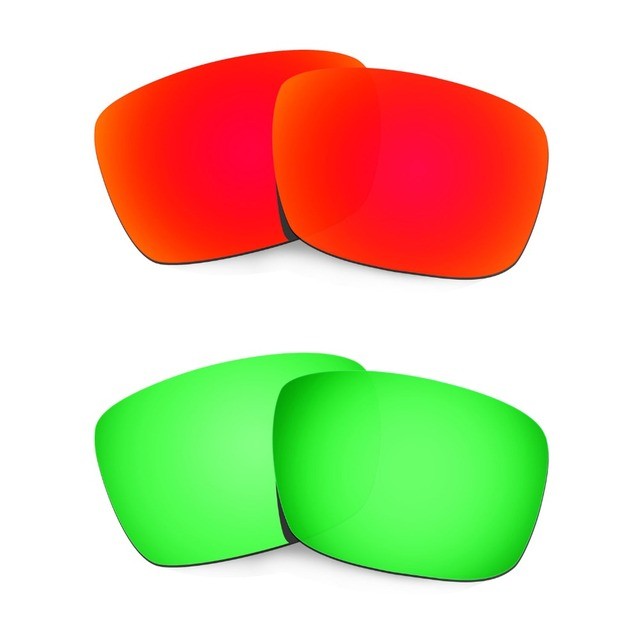 HKUCO Mens Replacement Lenses for Oakley Deviation Black/Emerald Green Sunglasses 3u1bZy