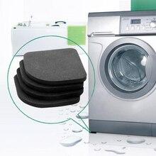 Подставки высокого качества для стиральной машины, коврики против скольжения, анти-вибрационный коврик под холодильник, 4 шт. / набор, качественный