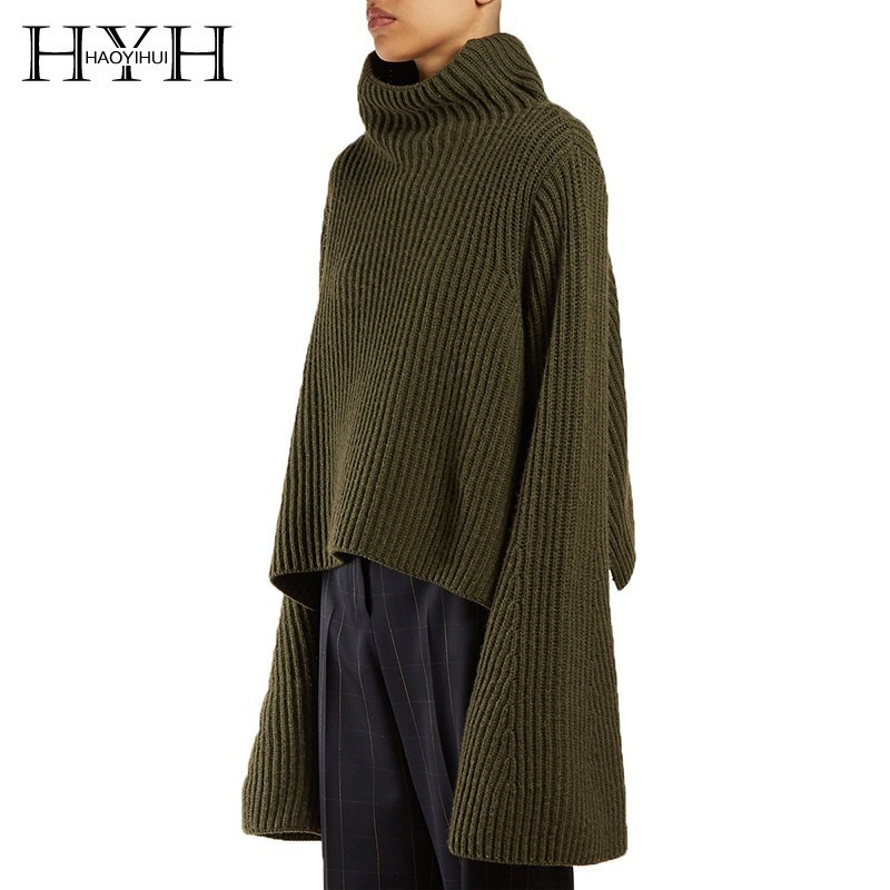 HYH Haoyihui 2019 Fashion European American Style Simplicity New Arrivals Leisure Cool Light Solid Casual Fit Turtleneck Sweater