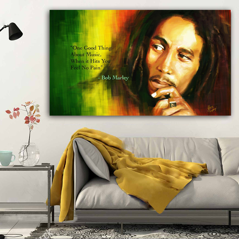 Bob Marley Canvas Painting Portrait Prints And Posters Wall ArtPictures For Living Room Classic Decorative Oil Painting Cuadros