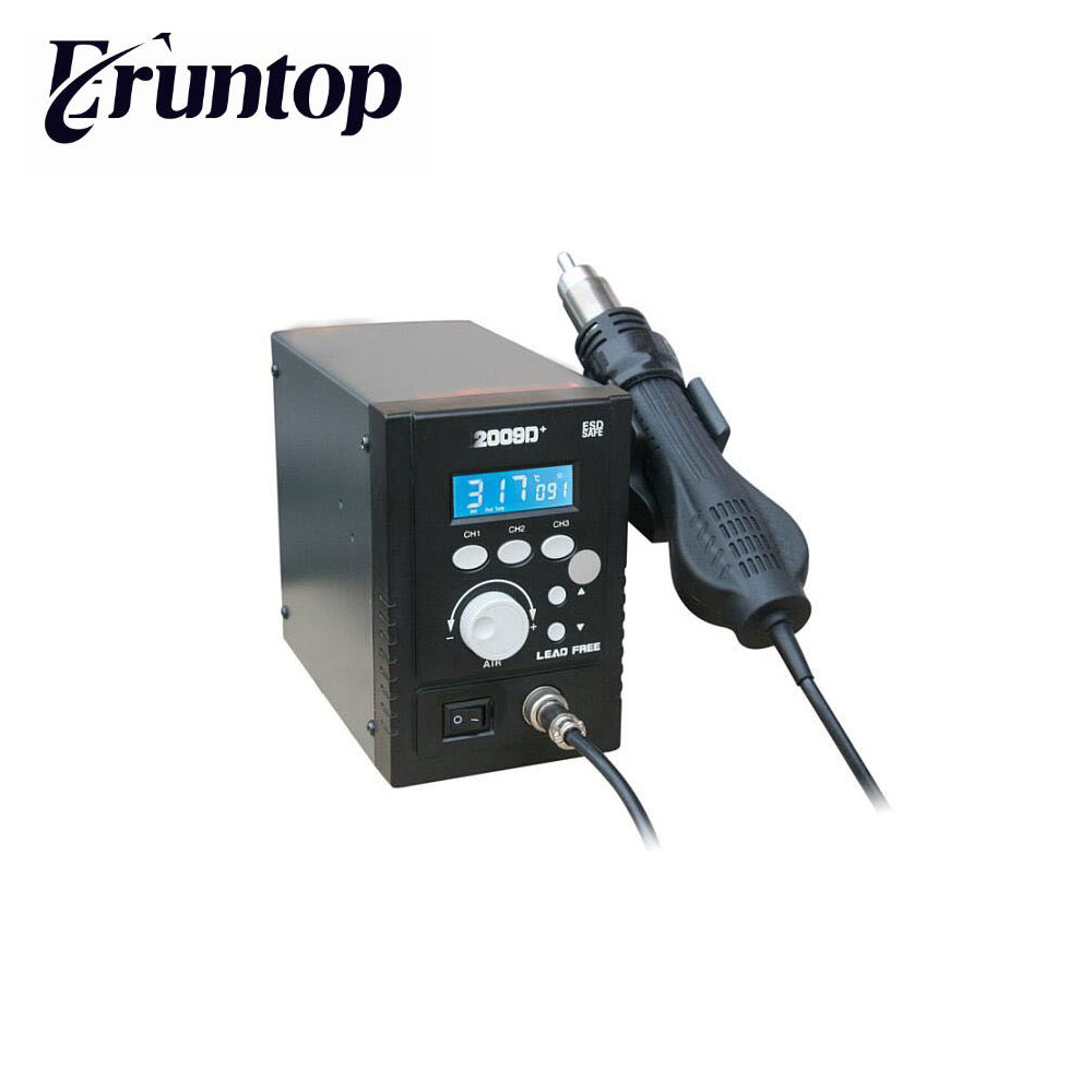 2009D+/ BGA Rework Thermostat Digital LCD Hot Air Gun soldering station Three segments stored thermostat f 204 mobile phone laptop bga rework reballing station hot air gun clamp