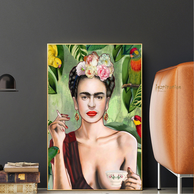Famous Woman Portrait Art Paintings On The Wall Modern Wall Art Canvas Posters And Prints Decorative Picture For Home Wall Decor