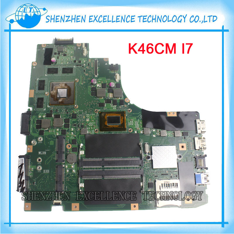 K46CB K46CM Laptop motherboard for ASUS non-Integrated  Intel i7 CPU 8 video card GT630M mainboard fully tested for asus k43sv k43sj laptop motherboard 1g video card k43sv original new mainboard gt540m rev2 2