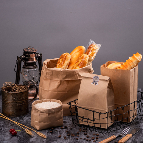 10pcs Kraft Paper Bags Food Tea Small Gift Bags Sandwich Bread Bags Party Wedding Supplies Wrapping Gift Takeout Take Out Bags Multan