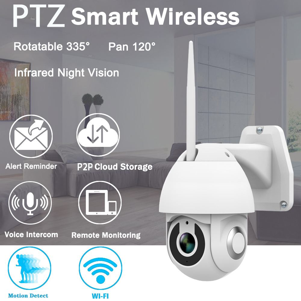 Image 2 - 2019 New Xiaovv OU 9113 M4 HD 1080P 2MP IP Camera Indoor Outdoor Security Smart Camera WIF PTZ  Infrared Night Version-in Surveillance Cameras from Security & Protection